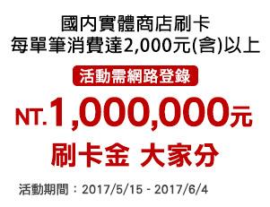 """【龍舟大賽 """"錢""""開得勝】百萬刷卡金 刷多多 分多多~"""