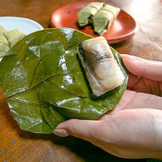 「柿乃肴」の柿の葉寿司
