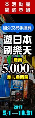 樂天卡在手日本樂遊遊登錄享國外交易手續費回饋