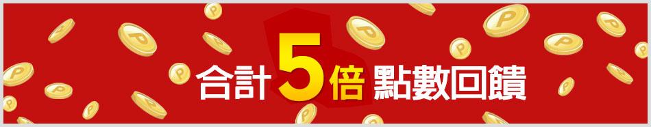 樂天市場消費刷樂天信用卡 合計5倍點數回饋