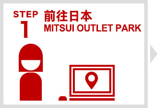 Step 1 前往日本MITSUI OUTLET PARK
